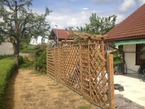 Holztrennwand schleifen 2