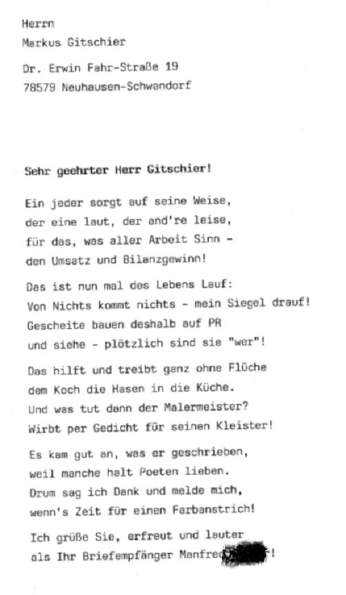 Gedicht neu